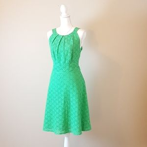 Green Eyelet New York & Co Dress
